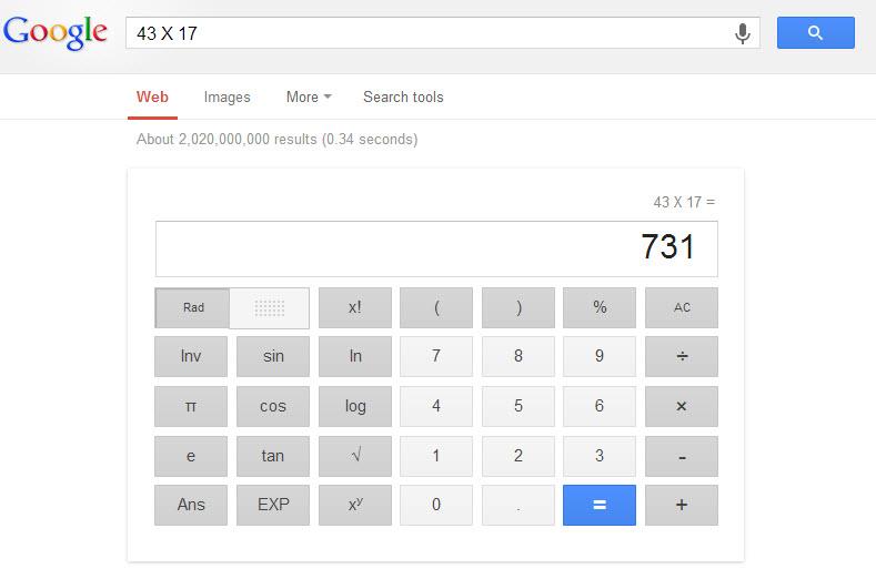 calculate google